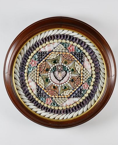Large Round Decorative Sailor's Valentine