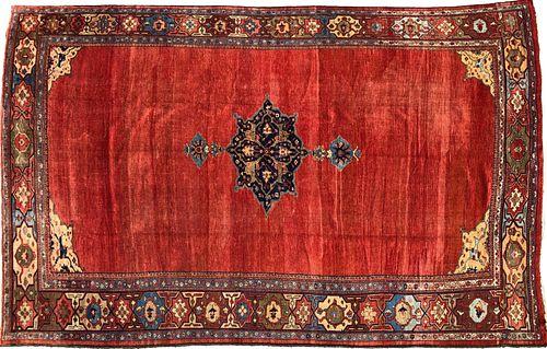 Antique Mahal Wool Carpet, circa 1920s