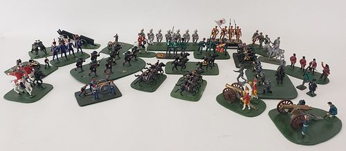 Large Group of Vintage Hand Painted Lead Toy Soldiers