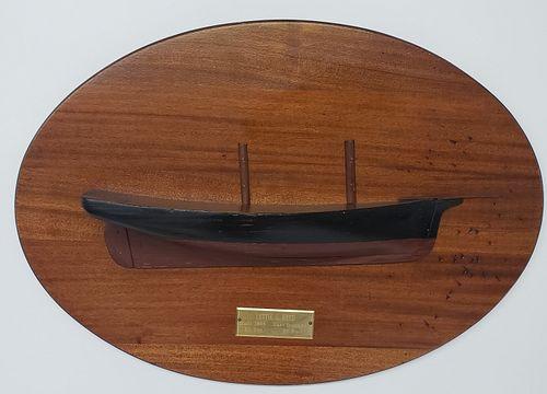 "Vintage Ship Builder's Half Hull Model, ""Lettie S. Reed"""