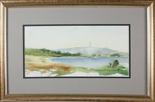 """William Welch Watercolor """"Sankaty Head Lighthouse"""""""