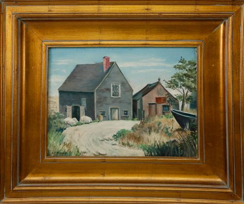 "Oil on Canvasboard ""Lane's Cove, Gloucester, Mass"""