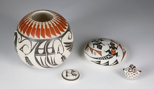 Group of Four Assorted Southwest Pottery Pieces