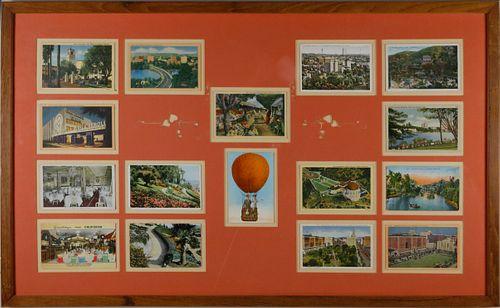 16 Vintage / Antique California Postcards
