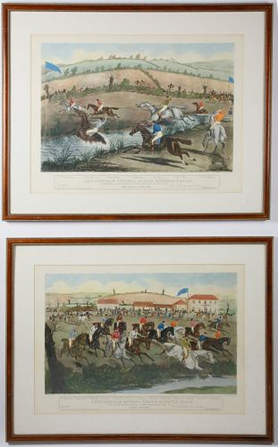 Pair of Hunting Prints Published by I.W. Laird