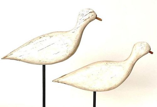 Lot of 2 Unfinished Plover Decoys