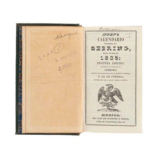 Miscelánea de Calendarios: Sebring / Ignacio Cumplido/ Galván/ J. M. Lara; Un Itinerario y Cuentos Cortos. 9 obras en 1 volumen.