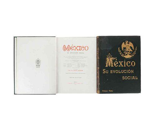 Sierra, Justo (Director). México, su Evolución Social. Inventario Monumental... México, 1901-02. Tomos I (vol 2) - II. Ilustrados.Pzs:2
