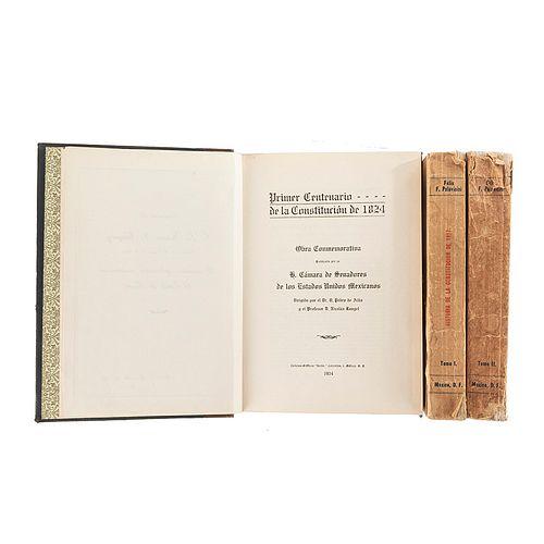 Palavicini, Félix F. / Alba, Pedro de. Historia de la Constitución de 1917 / Primer Centenario de la Constitución de 1824. Piezas: 3.