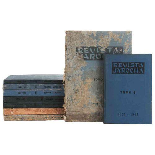 Pasquel, Leonardo (Director). Revista Jarocha. México: Editorial Citlaltépetl, 1960 - 1968. Tomos I - IX. Números 1 - 54. Piezas: 9.