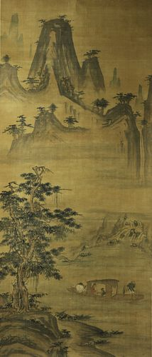 Chinese Painting Ink on Silk Attributed To Yan Wengui?967—1044?