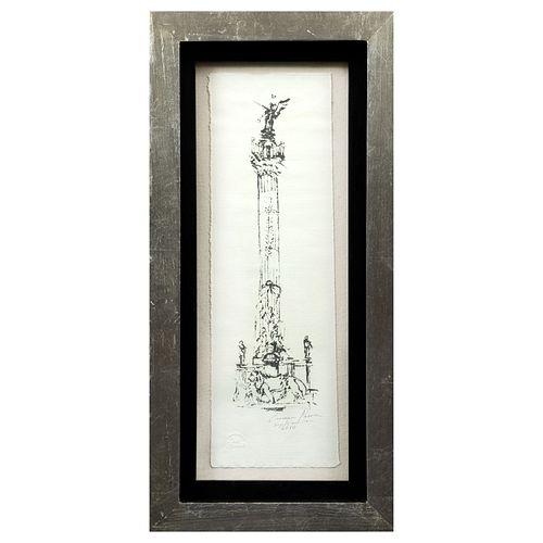CARMEN PARRA. Ángel de la Independencia. Reproducción impresa a partir de la original conmemorativa del Bicentenario. Firmada y fechada