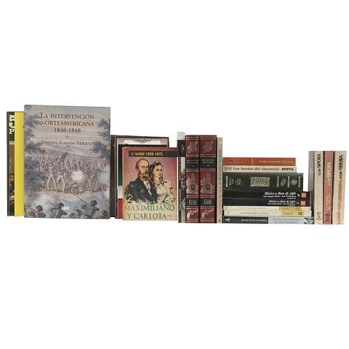 Libros sobre historia de México y literatura. México Viejo / Los Bandidos de Río Frío / México a fines de Siglo. Pzs: 22.