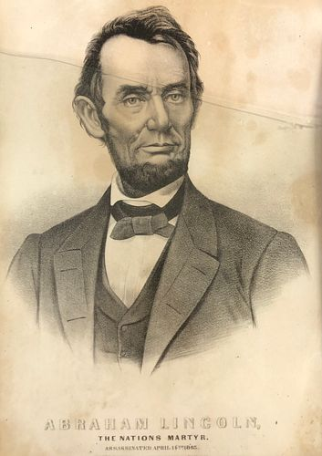 ABRAHAM LINCOLN assassination Orig Print > 125 YEARS