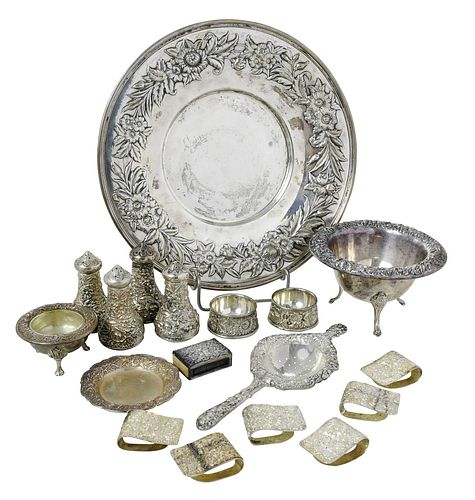 18 Kirk Repousse Sterling Table Items
