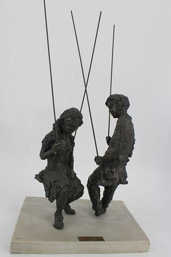 Irwin Hyman (USA Born 1923) Bronze Sculpture