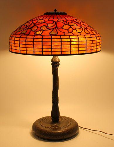 "Tiffany Studios Signed 18"" Table Lamp"