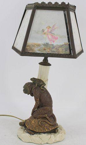 Royal Worcester Porcelain, Tree, Monkey, Turtle &