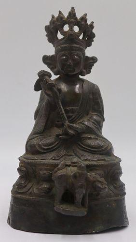 Antique Chinese Bronze Seated Buddha.