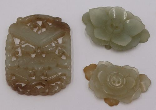 Grouping of Antique Carved Chinese Jade.