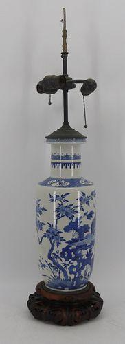 Large Chinese Blue and White Vase.