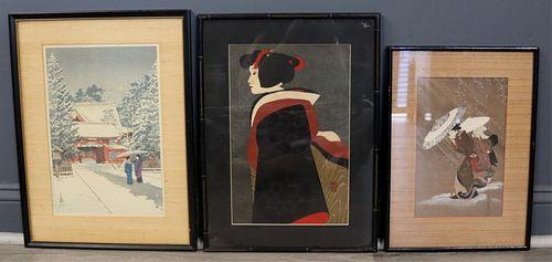 (3) Japanese Woodblock Print Inc. Saito.