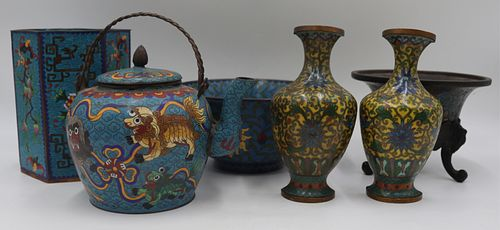 Grouping of Asian Cloisonne.