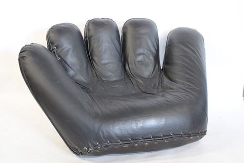 Joe DiMaggio Leather Glove Chair
