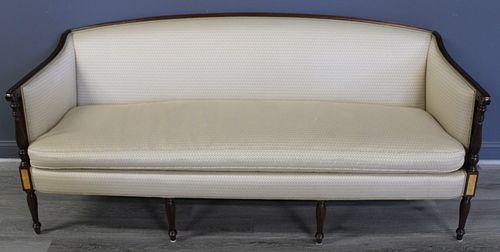 Sheraton Style Upholstered Sofa.