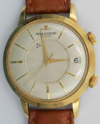 JEWELRY. Men's Jaeger LeCoultre Memovox Watch.