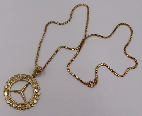 JEWELRY. 14kt Gold Mercedes Pendant and 14kt Gold