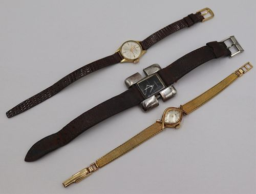 JEWELRY. Grouping of Gold and Silver Watches.