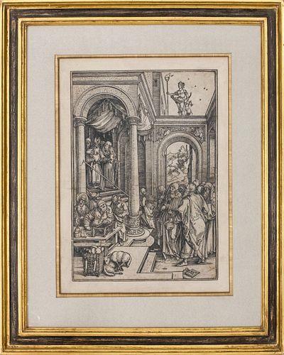 """Dürer """"Presentation of the Virgin"""" Woodcut"""