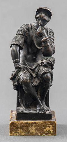 After Barbedienne, Bronze Michelangelo's Thinker