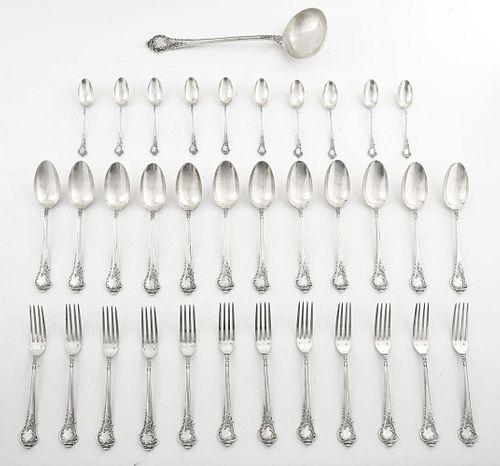 Alphonse Debain French Silver Flatware, 35 Pcs.