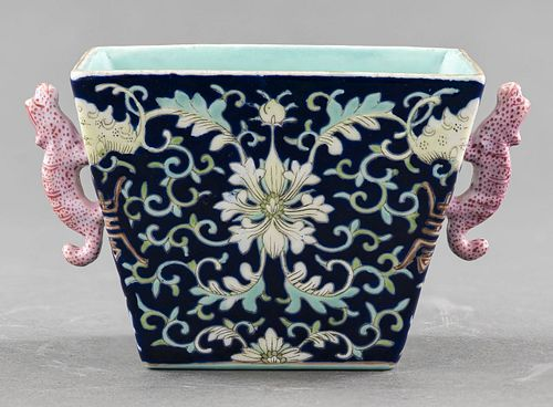 Chinese Small Molded Planter with Jiaqing Mark