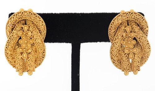 Greek Byzantine 18K Double Knot Post Earrings
