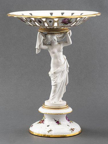 Royal Copenhagen Reticulated Porcelain Tazza