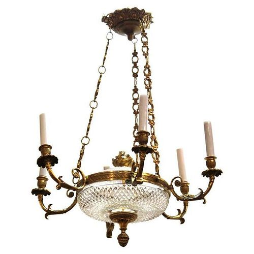 French Empire Revival Style Chandelier