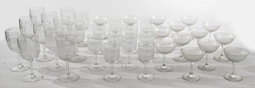Baccarat Nancy Clear Cut Crystal Glassware