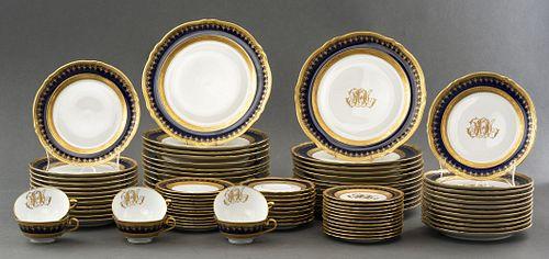 George Boyer Limoges Porcelain Dinner Service, 87