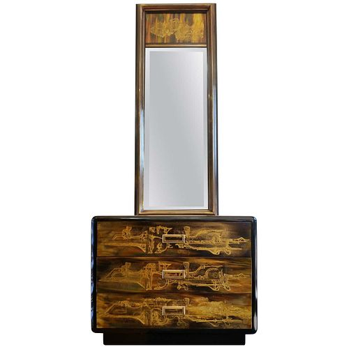 Mastercraft Mirror and Chest of Drawers by Bernhard