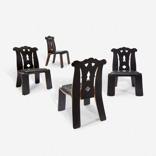 "Robert Venturi (American, 1925-2018) Set of Four ""Chippendale"" Chairs, Knoll International, 1980s"