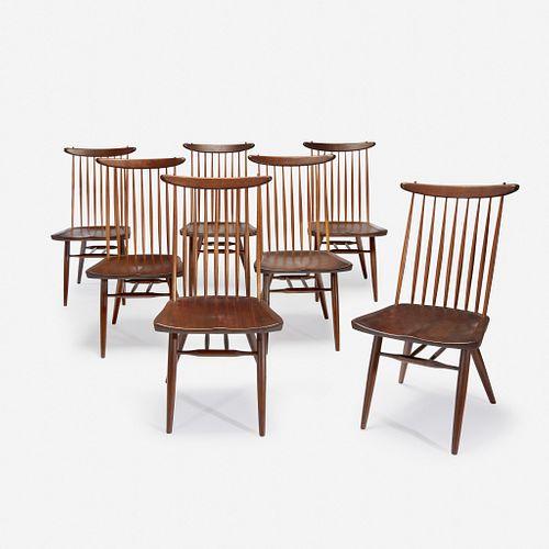 "George Nakashima (American, 1905-1990) Set of Seven ""Origins"" Side Chairs, Model No. 271-W, Widdicomb, Grand Rapids, MI, circa 1960s"