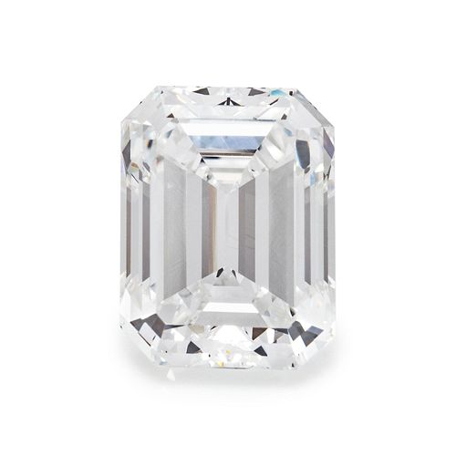 AN EXCEPTIONAL 5.12 CARAT EMERALD CUT DIAMOND