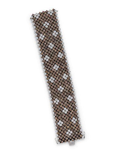 COLORED DIAMOND AND DIAMOND BRACELET