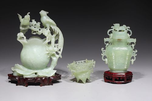 Group of Three Chinese Carved Hardstones