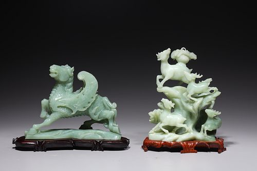 Two Chinese Carved Hardstones
