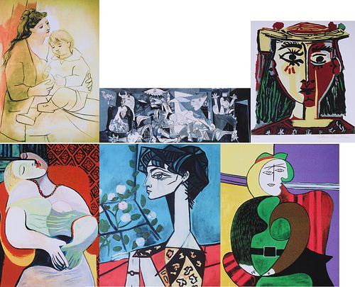 Group of Six Picasso Giclee Prints