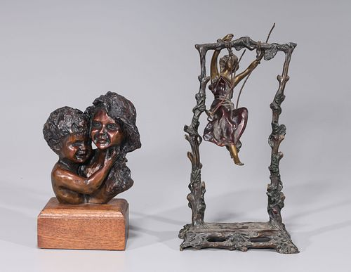 Group of Two Bronze Statues